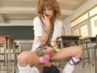 制服姿がめちゃエロ可愛いギャルJKと教室で生中出しセックス しみけん(清水健)FC2無料エロ動画