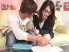 メガネとスーツが似合う品のある美人お姉さんと3Pセックス 藍沢潤/しみけんXVIDEOS無料サンプルエロ動画
